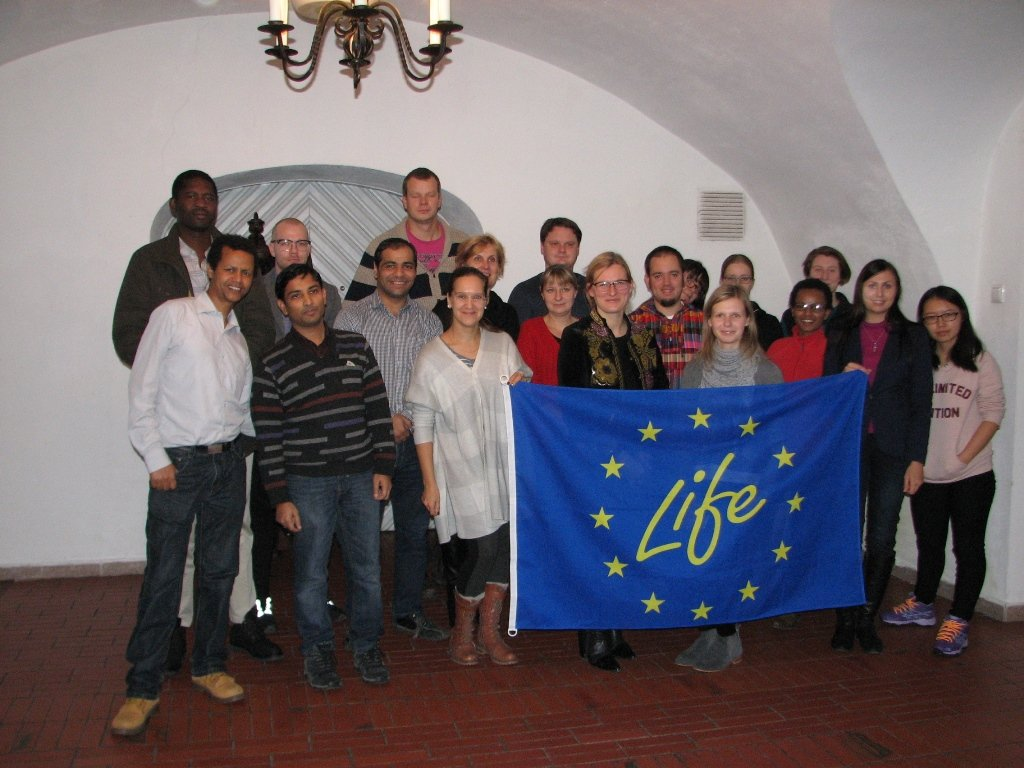 Students and project LIFE EcosystemServices representatives